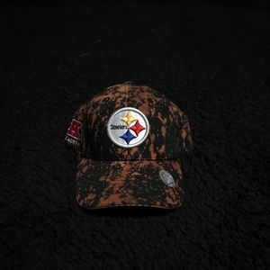 Bleached Steelers Velcro Strapped Hat